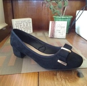 Wide Fit Extra Comfort Black Slip On